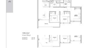 kent-ridge-hill-residences-floor-plan-3-bedroom-c3-singapore