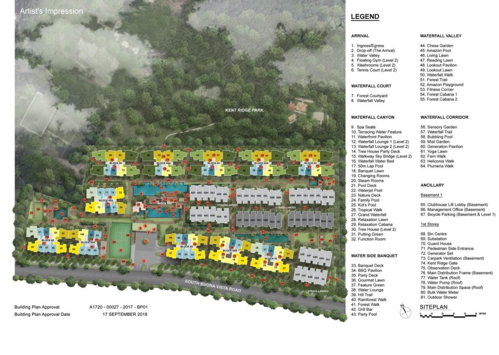 kent-ridge-hill-residences-site-plan-singapore